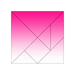 Gradients Pink White Acrylic Tangram Puzzle (4  X 4 )