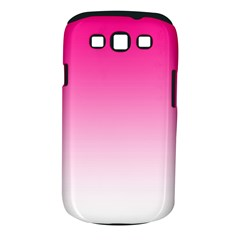 Gradients Pink White Samsung Galaxy S III Classic Hardshell Case (PC+Silicone)