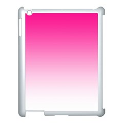 Gradients Pink White Apple iPad 3/4 Case (White)