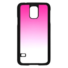 Gradients Pink White Samsung Galaxy S5 Case (black)