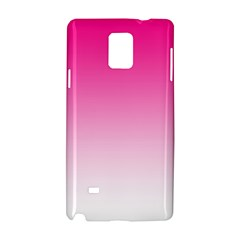 Gradients Pink White Samsung Galaxy Note 4 Hardshell Case