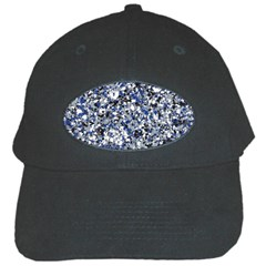 Electric Blue Blend Stone Glass Black Cap