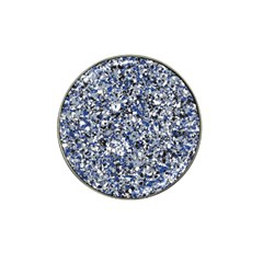 Electric Blue Blend Stone Glass Hat Clip Ball Marker (4 pack)