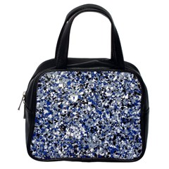 Electric Blue Blend Stone Glass Classic Handbags (One Side)