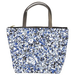 Electric Blue Blend Stone Glass Bucket Bags