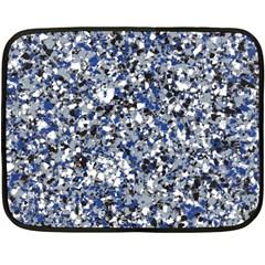 Electric Blue Blend Stone Glass Double Sided Fleece Blanket (Mini)