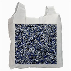 Electric Blue Blend Stone Glass Recycle Bag (One Side)