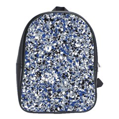 Electric Blue Blend Stone Glass School Bags(Large)