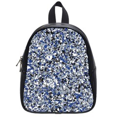 Electric Blue Blend Stone Glass School Bags (Small)