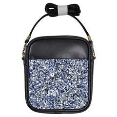 Electric Blue Blend Stone Glass Girls Sling Bags