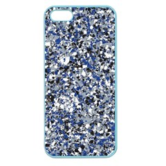 Electric Blue Blend Stone Glass Apple Seamless iPhone 5 Case (Color)