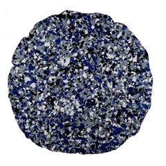 Electric Blue Blend Stone Glass Large 18  Premium Round Cushions