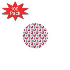 Fruit Pink Green Mangosteen 1  Mini Buttons (100 pack)