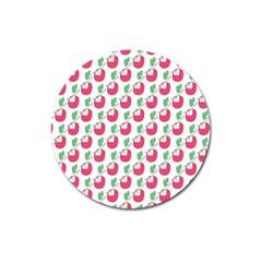Fruit Pink Green Mangosteen Magnet 3  (Round)