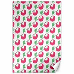 Fruit Pink Green Mangosteen Canvas 12  x 18