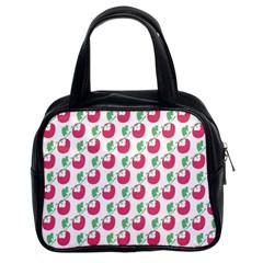 Fruit Pink Green Mangosteen Classic Handbags (2 Sides)