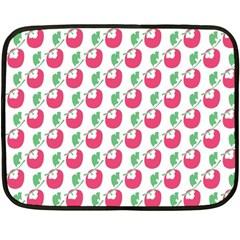 Fruit Pink Green Mangosteen Double Sided Fleece Blanket (Mini)