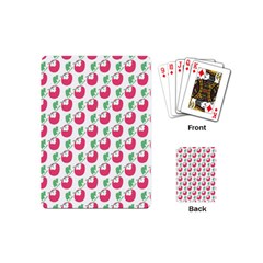 Fruit Pink Green Mangosteen Playing Cards (Mini)