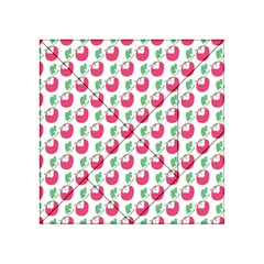 Fruit Pink Green Mangosteen Acrylic Tangram Puzzle (4  x 4 )