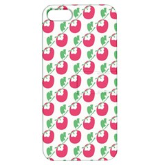 Fruit Pink Green Mangosteen Apple iPhone 5 Hardshell Case with Stand