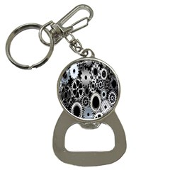 Gears Technology Steel Mechanical Chain Iron Button Necklaces