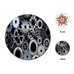 Gears Technology Steel Mechanical Chain Iron Playing Cards (Round)