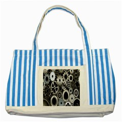 Gears Technology Steel Mechanical Chain Iron Striped Blue Tote Bag