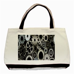 Gears Technology Steel Mechanical Chain Iron Basic Tote Bag (Two Sides)