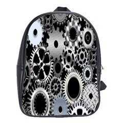Gears Technology Steel Mechanical Chain Iron School Bags(Large)