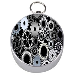 Gears Technology Steel Mechanical Chain Iron Silver Compasses