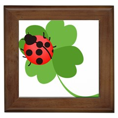 Insect Flower Floral Animals Green Red Framed Tiles