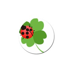 Insect Flower Floral Animals Green Red Golf Ball Marker (10 pack)
