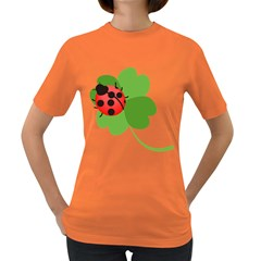 Insect Flower Floral Animals Green Red Women s Dark T-Shirt