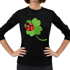 Insect Flower Floral Animals Green Red Women s Long Sleeve Dark T-Shirts