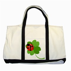 Insect Flower Floral Animals Green Red Two Tone Tote Bag