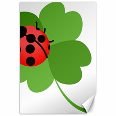Insect Flower Floral Animals Green Red Canvas 12  x 18