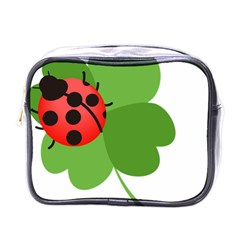 Insect Flower Floral Animals Green Red Mini Toiletries Bags