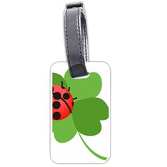 Insect Flower Floral Animals Green Red Luggage Tags (One Side)