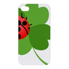 Insect Flower Floral Animals Green Red Apple iPhone 4/4S Premium Hardshell Case