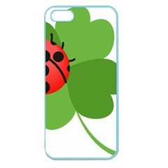 Insect Flower Floral Animals Green Red Apple Seamless iPhone 5 Case (Color)