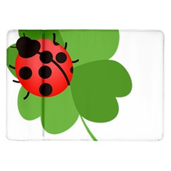Insect Flower Floral Animals Green Red Samsung Galaxy Tab 10.1  P7500 Flip Case