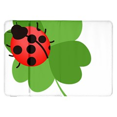Insect Flower Floral Animals Green Red Samsung Galaxy Tab 8.9  P7300 Flip Case