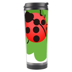 Insect Flower Floral Animals Green Red Travel Tumbler