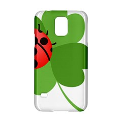 Insect Flower Floral Animals Green Red Samsung Galaxy S5 Hardshell Case