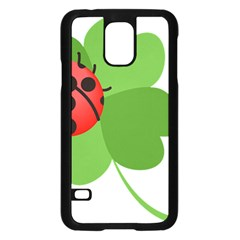 Insect Flower Floral Animals Green Red Samsung Galaxy S5 Case (black)