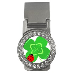 Insect Flower Floral Animals Green Red Line Money Clips (CZ)