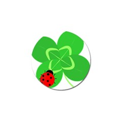 Insect Flower Floral Animals Green Red Line Golf Ball Marker (10 pack)