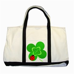 Insect Flower Floral Animals Green Red Line Two Tone Tote Bag