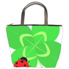 Insect Flower Floral Animals Green Red Line Bucket Bags