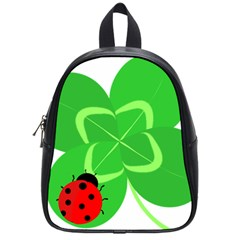 Insect Flower Floral Animals Green Red Line School Bags (Small)